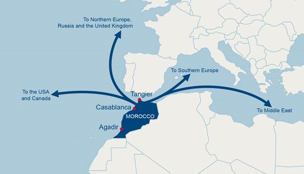 Logistics BusinessThe CMA CGM Group upgrades its services to Morocco with 5 unmatched export solutions of Moroccan citrus fruits and vegetables to Russia, North America, Europe, the Middle East and Africa