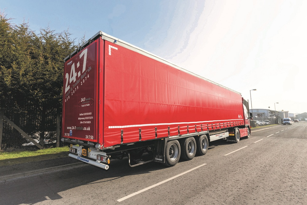 Logistics BusinessKrone Profi Liners provide added loading speed and security for 24:7 trailer rentals