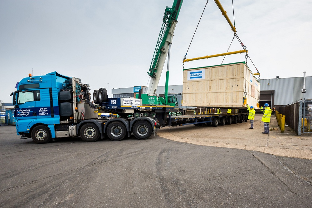 Logistics BusinessAtlas Copco delivers 50 tonne compressed air package to Shah Deniz oilfield in the Caspian Sea