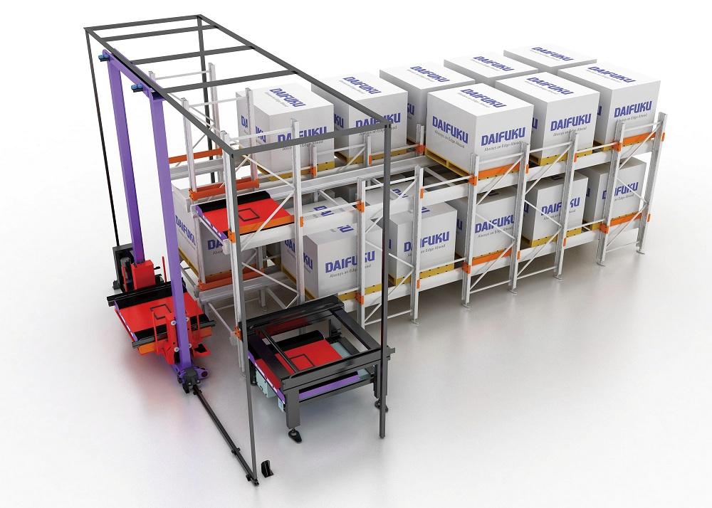 Logistics BusinessDAIFUKU presented new storage and retrieval machine with shuttle rack