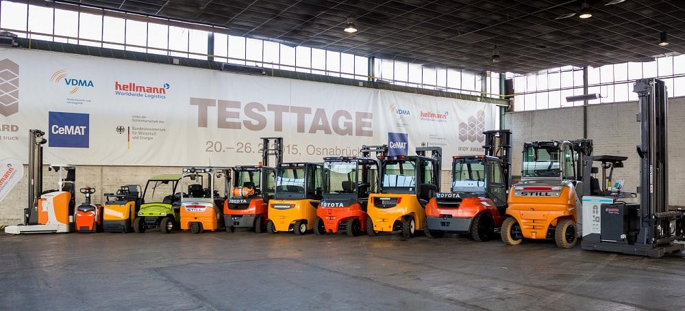 Logistics BusinessIFOY Test Days 2015: jury tests nominated forklift and warehouse trucks