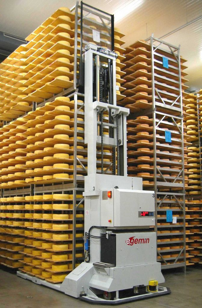 Logistics BusinessPinzgau Milch automates cheese ripening with Egemin  AGVs