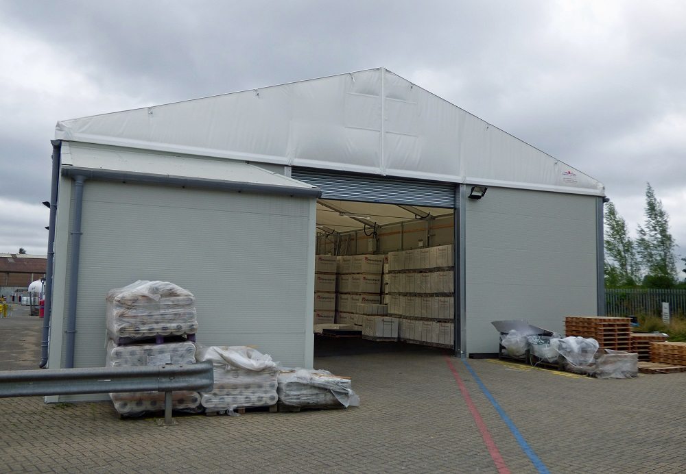 Logistics BusinessTemporary Buildings Specialist Completes Projects For Roof Systems Provider