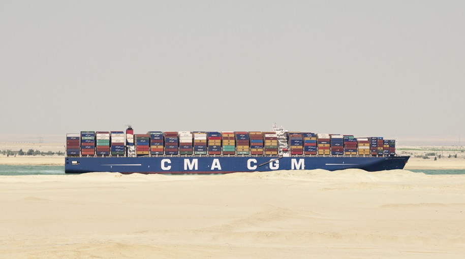 Logistics BusinessInauguration of the New Suez Canal, a strategic and crucial route for the world commercial exchanges and for the CMA CGM Group's vessels