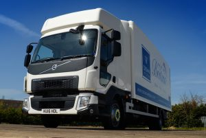 """Logistics BusinessWaterline of Newport Pagnell has taken delivery of fifteen 12-tonne Volvo FL 4×2 rigids from Volvo Truck and Bus Centre London, Milton Keynes. <br><br> The vehicles are the company's first Volvo trucks and are being used for the nationwide distribution of kitchen components from worktops and units to appliances and even lighting. <br><br> Group Logistics Manager, Matt Elborough says: <i>""""Driver and road-user safety, environmental impact, fuel economy, driver comfort, reliability, usability and network support were all identified as prerequisites when it came to renewing what is essentially over one third of our entire 40-strong fleet of trucks and vans."""" <br></i><br><i> """"In choosing the new trucks we started with a blank sheet and looked at all the options. Through this exhaustive process it was the Volvo FL that stood out as the only truck that met all of the criteria we'd defined at the outset. Needless to say, I think the Volvo iron mark on the front also does wonders for our corporate image, which is an added bonus,""""</i> he adds. <br><br> For overnight accommodation the new trucks' day cabs are fitted with Super Sky Cab conversions by Hatcher Components of Framlingham, Suffolk and bodywork is in the form of 'Cheetah' fast back bodies from Cartwright Group of Altrincham for enhanced aerodynamic performance.  <br><br><i> """"We take the environment extremely seriously,""""</i> explains Matt. <i>""""Everything about these new trucks, from the fuel saving curved roof through the highly responsive and effective 6-speed overdrive I-Sync automated mechanical gearbox to the high torque at low revs 210hp engines is about efficiency and limiting our impact on the environment. This attention to detail has already been borne out in fuel figures that show we're returning over 16mpg. This has really impressed."""" </i><br><br><i> Running a low chassis frame height of 850mm above ground and with two bag rear air suspension, the new Volvo FLs have been specified with safe"""