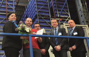 "Logistics BusinessKone, a global leader in the elevator and escalator industry, has presented its logistics supplier Imperial Logistics International with the golden ""Supplier Excellence Certificate"" for the second time in succession. Team leader Andreas Böhm (second from left in the photo) and his colleagues at the multi-user logistics centre operated by Imperial Logistics International in Herten delivered absolutely top performance last year. This provided convincing evidence for the Kone supplier quality management. <br><br> The Supplier Excellence certification is based on a comprehensive evaluation of supplier's quality, risk and environmental management systems as well as operational performance, robustness of the service processes and the satisfaction of the Kone teams towards the collaboration with the supplier. These are verified by a Kone supplier quality management team through annual on site audits and internal surveys run twice per year. <br><br> ""Supply quality and punctuality are the top priority for our customers. The recipients of spare parts need to be serviced quickly and without any problems, otherwise technical breakdowns may occur,"" says Mika Turunen (on the right in the photo), Logistics Manager at Global Spare Supply at Kone. Imperial Logistics International handles several principal logistics tasks as part of the global spare parts logistics for Kone at the multi-user logistics centre in Herten, which measures 43,000 square metres; they include the complete stock management, order picking, packaging and processing shipments. Then there are the value-added services like minor installation work, assembling components and kit building and even preparing material photos for the online catalogue. <br><i><br> Shown in the picture are: flowers and a certificate for team leader Andreas Böhm (second from left): Mari Lempinen (Logistics Specialist Kone), Michael Korpak (site manager in Herten), Robert Jenks (Supply Chain Operations Director, Kone) and Mika Turunen (Logistics Manager, Kone/from left).  <br></i><br>"