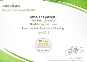 Logistics BusinessGEODIS Recognised For Corporate Social Responsibility Excellence