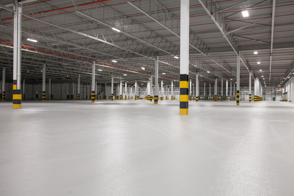 Logistics BusinessNew Warehouse Flooring Solution Claims Durability and Finish