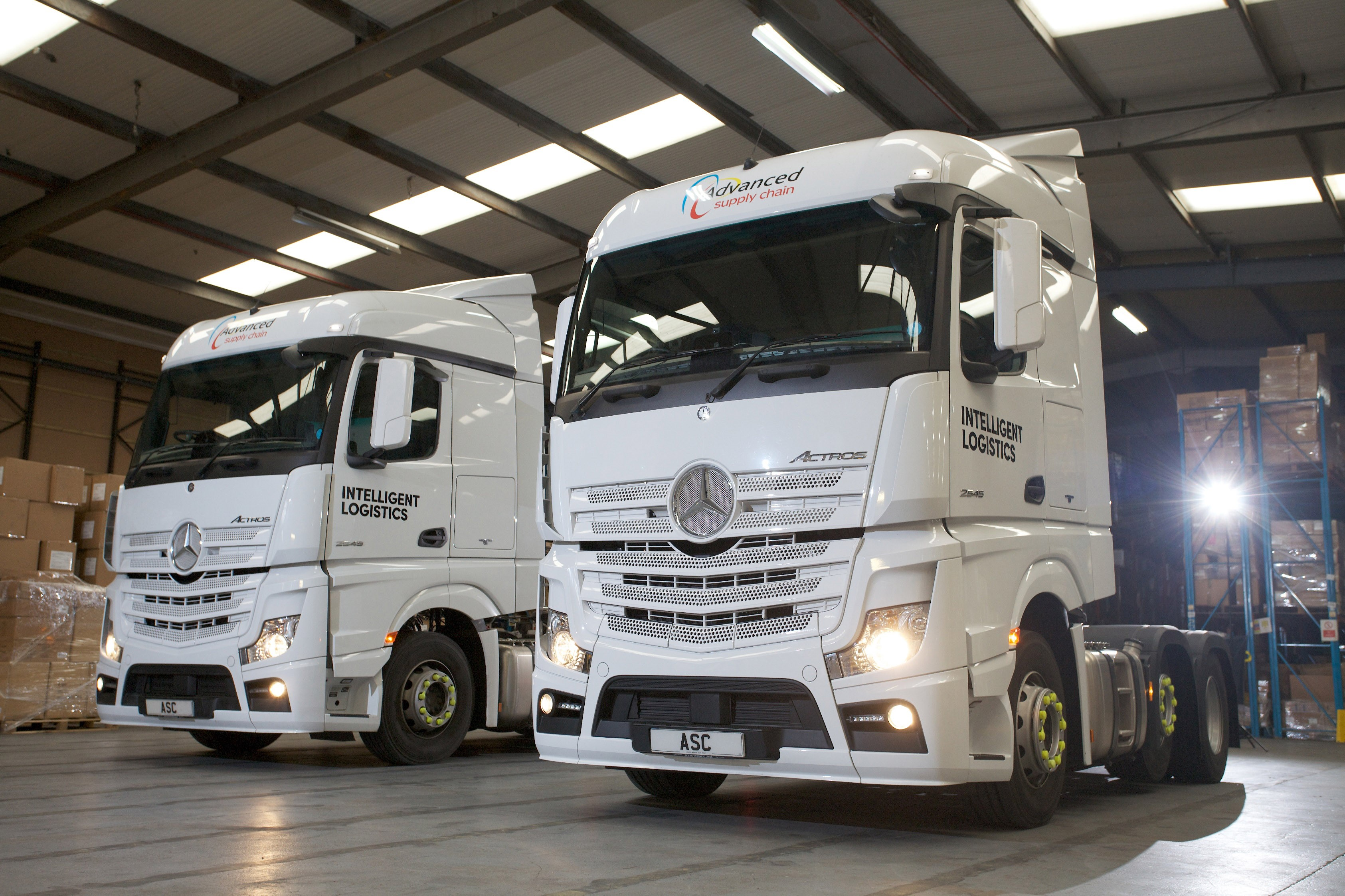 56 new mercedes vehicles for advanced supply chain group for Mercedes benz warehouse jobs