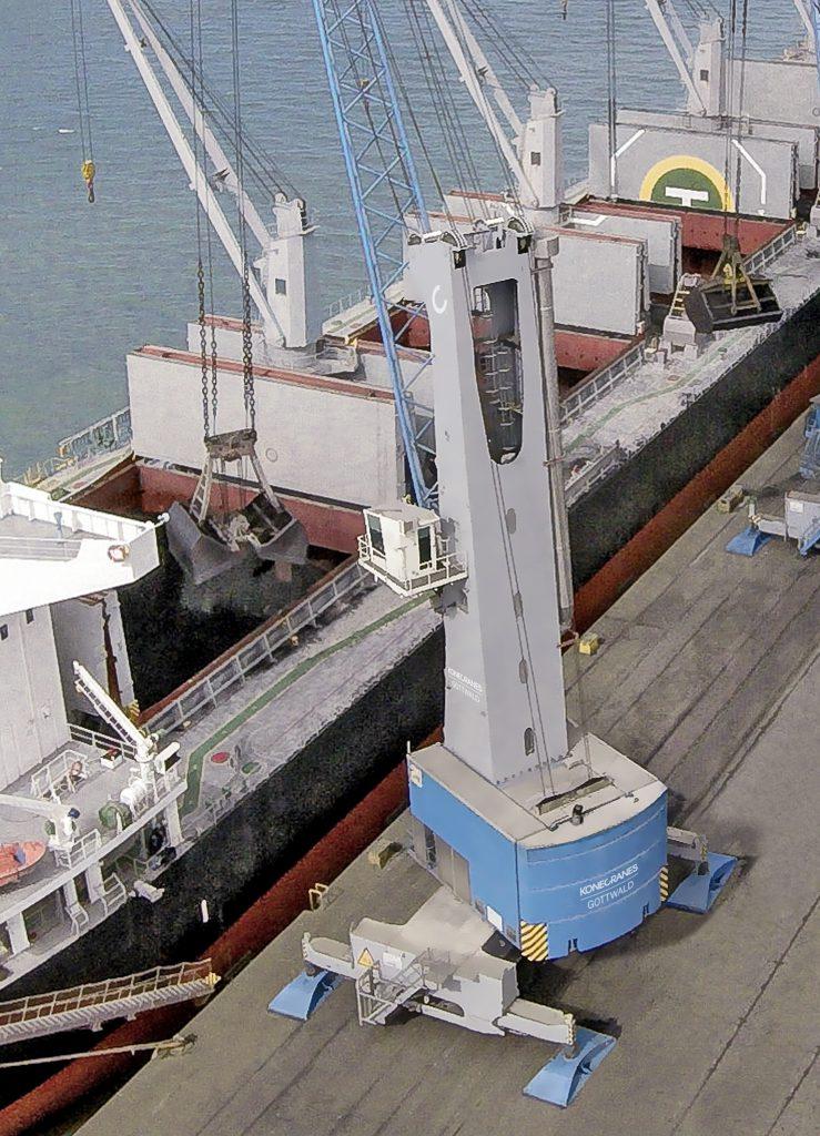 Konecranes Mobile Harbour Crane Now In Action At Noatum S