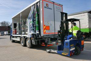 Logistics BusinessTruck-Mounted Forklifts Delivering the Goods For German Haulier
