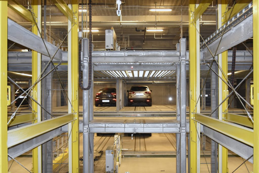 Logistics BusinessLogistics Specialist Hands Over Fully Automated Car Parking System