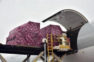 Logistics Business100-ton Single Flight Pharma Charter from Mumbai-Brasilia