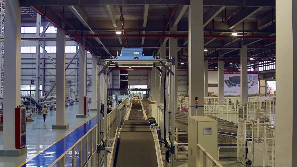 Logistics BusinessCrossbelt Sorter Playing Vital Role at Chinese Shoe Producer DC