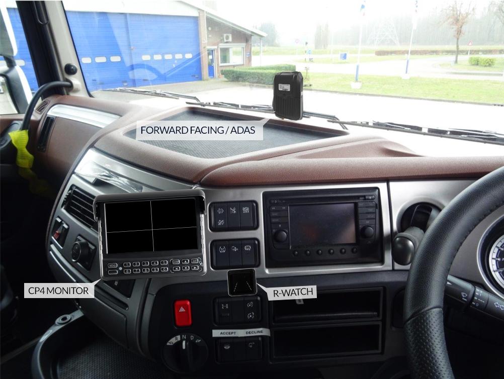 Logistics BusinessAdvanced Driver Assistance System on View at CV Show