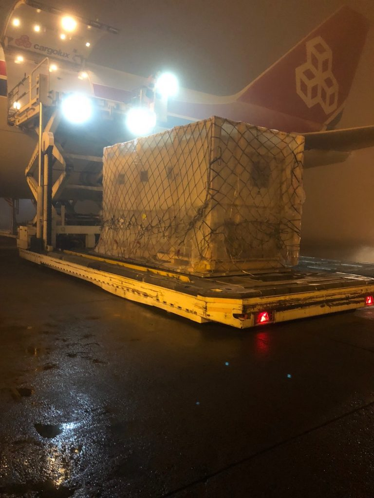 Logistics BusinessMobile Lab Transported by Air from Budapest to Hanoi