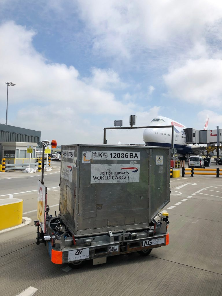 Logistics BusinessAurrigo Trials Autonomous Baggage Dolly at Heathrow
