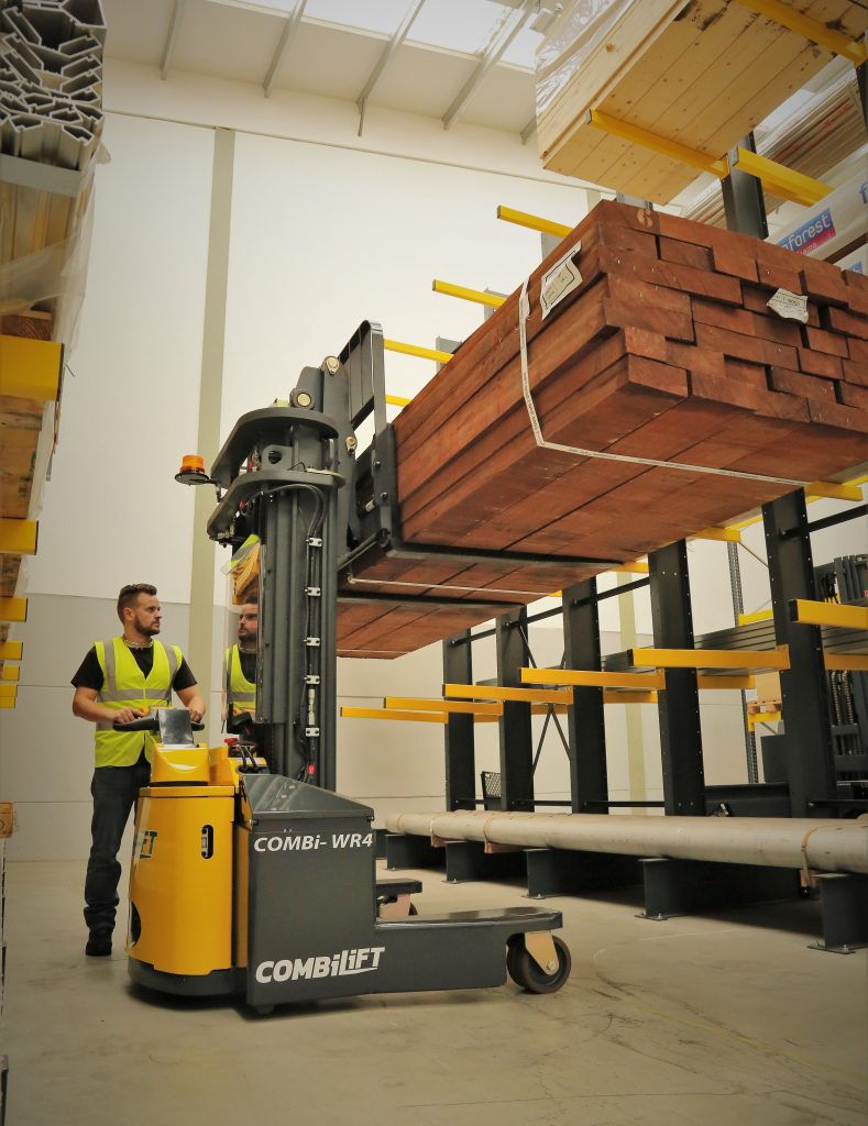 Logistics BusinessFour Separate IMHX Stands for Combilift and Aisle Master