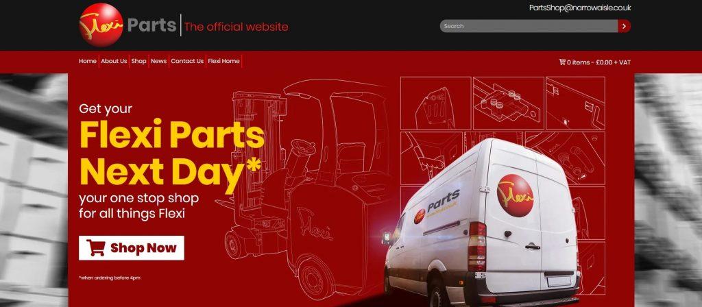 Logistics BusinessNarrow Aisle Launches Online Flexi Parts Store