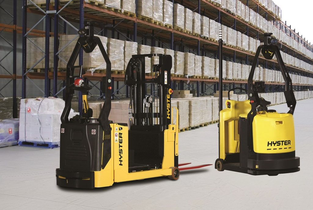 Logistics BusinessRobotic Hyster Trucks Target Automotive Supply Chain Efficiency