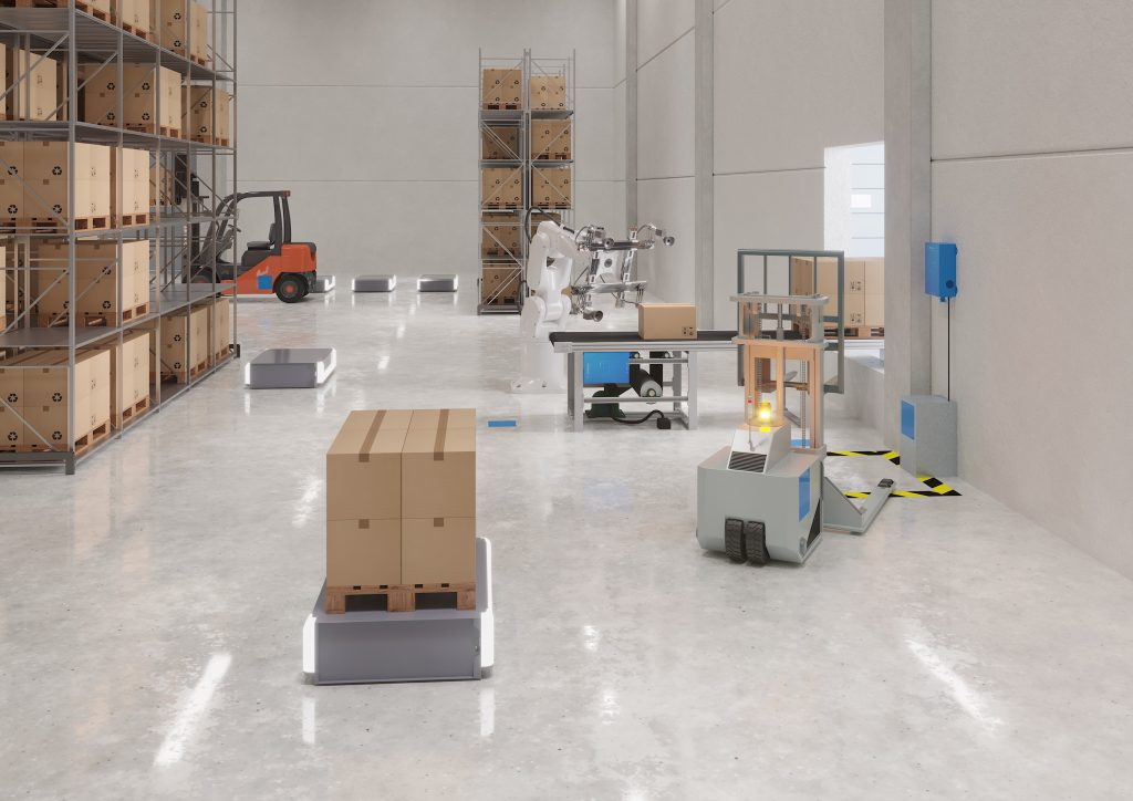 Logistics BusinessIn-process Forklift Charging