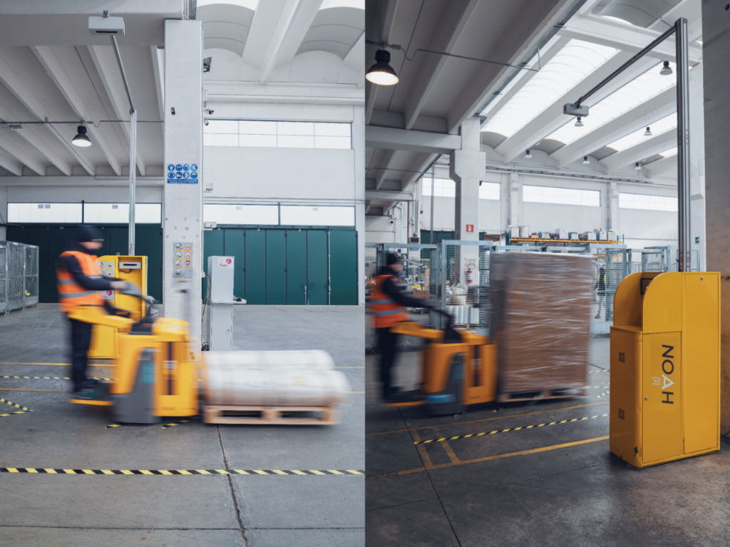 Logistics BusinessFives System Measures Pallet Dimensions Dynamically