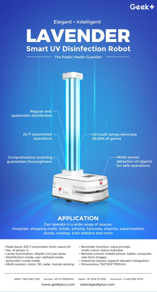 Logistics BusinessGeek+ Launches Unmanned Disinfection Robots for Warehouse Use