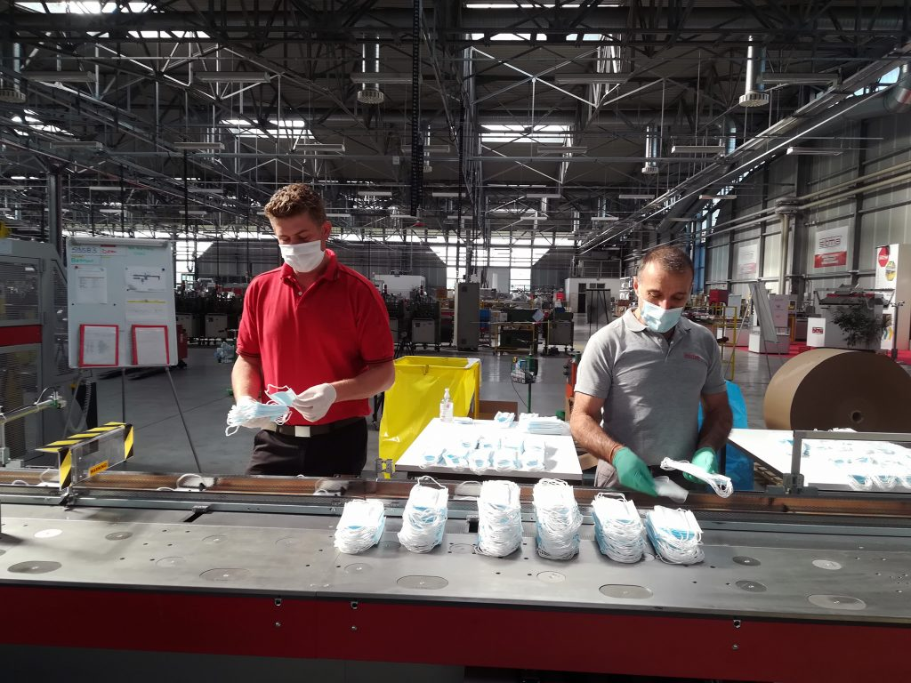 Logistics BusinessSitma Packages 30,000 Masks for Northern Italy Region