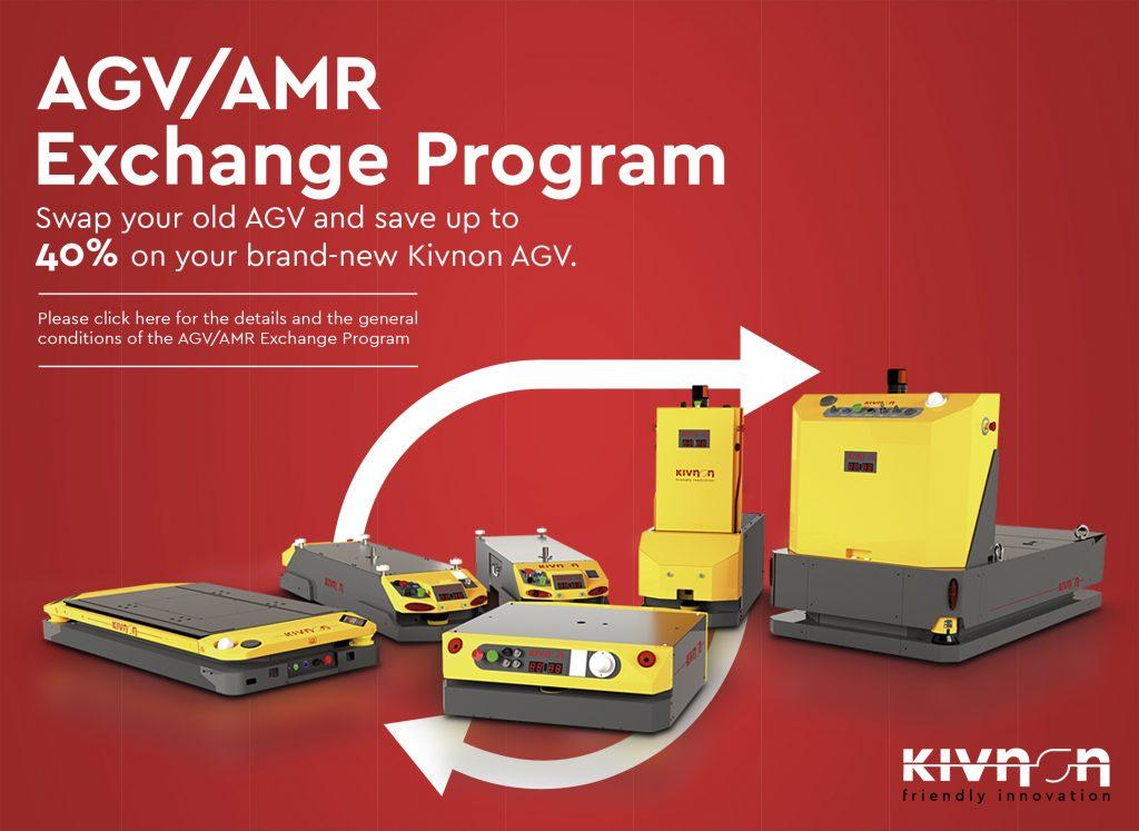 Logistics BusinessKivnon AGV/AMR Exchange Scheme Offers Possible 40% Savings
