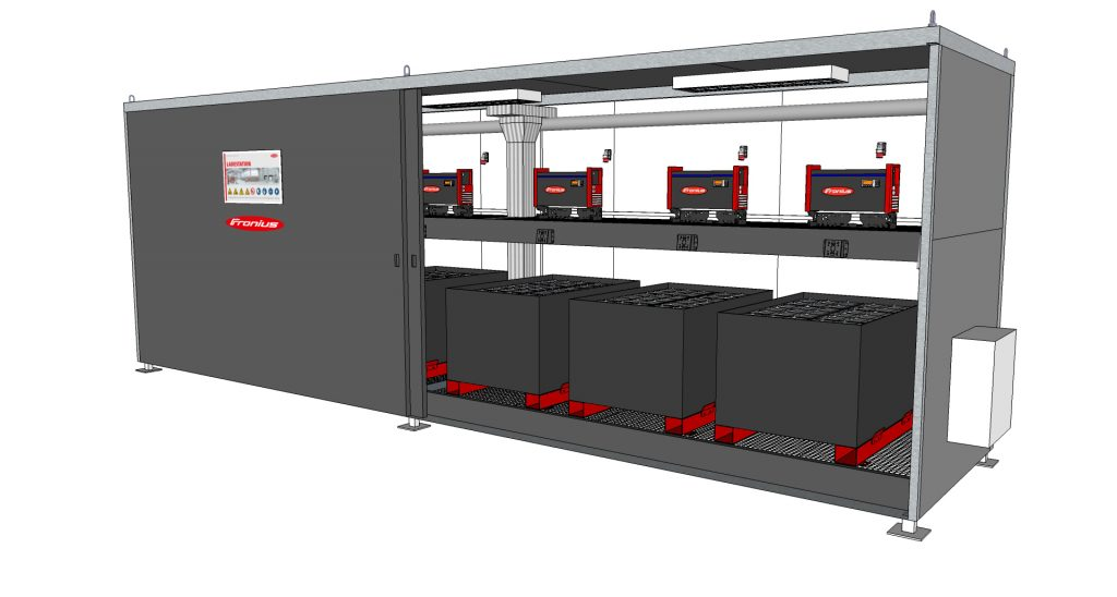Logistics BusinessFronius Energy Hub Allows Flexible Outdoor Battery Charging