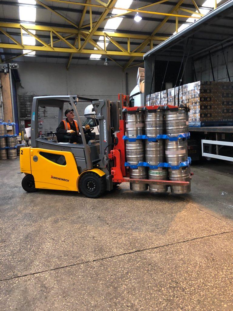 Logistics BusinessKeg Clamp Attachments for UK Brewer Forklift Fleet