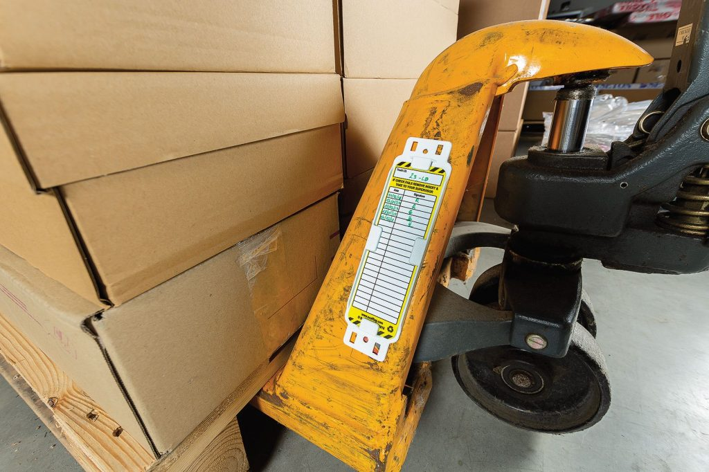 Logistics BusinessBetter Equipment Safety Promised by New Pallet Truck Tag