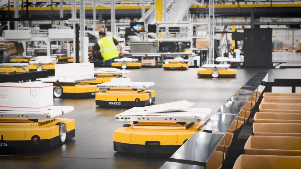 Logistics BusinessMini Mobile Robots bring Sorting Solution