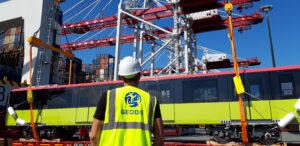 Logistics BusinessTransporting Metro Train Cars