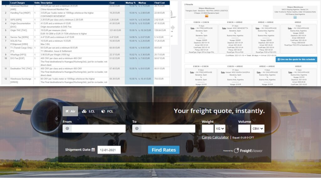 Logistics BusinessGlobalia's TMS FreightViewer will henceforth come with the LCL rates from Shipco