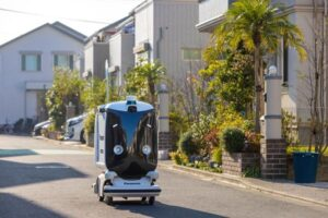 Logistics BusinessPanasonic Robots to Make Home Deliveries in Field Test