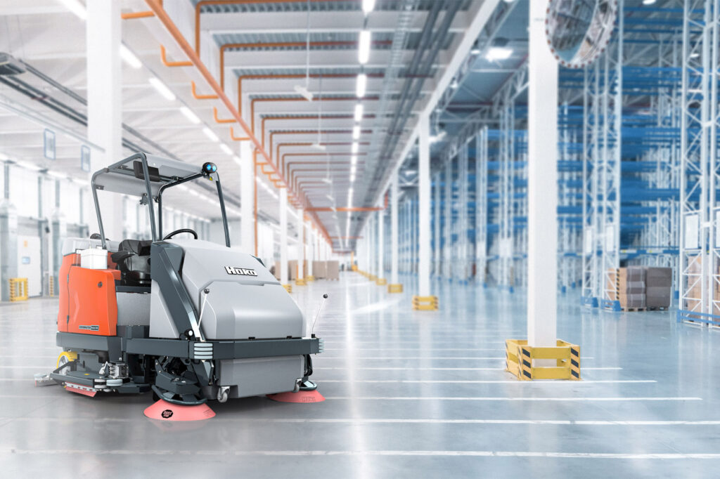 Logistics BusinessRide-on Scrubber-drier for Extra-large Areas