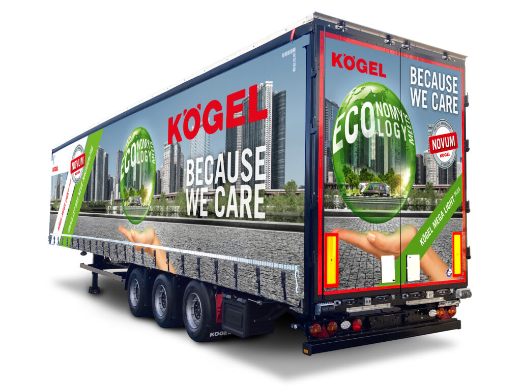 Logistics BusinessTrailer Combines Large Cargo Volume with Max Payload