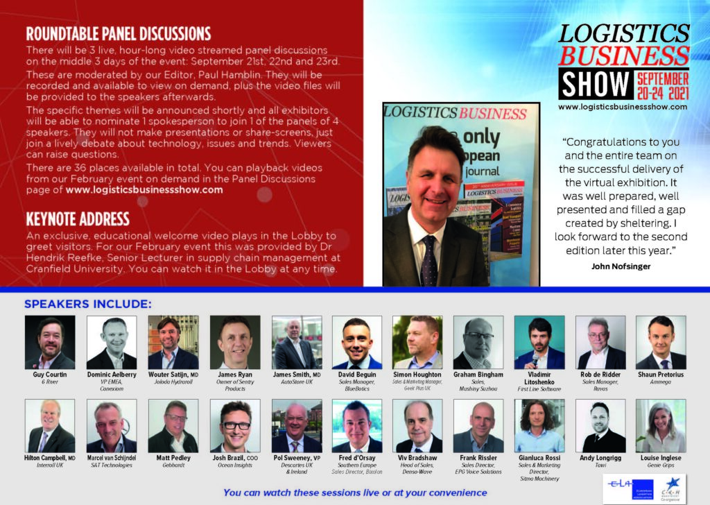 Logistics BusinessWatch Panel Discussions from our Virtual Show