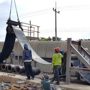 Logistics BusinessEfficient belt change on overland conveyor