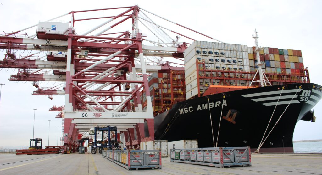 Logistics BusinessShip affected by Suez blockage arrives in Barcelona
