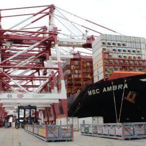 Logistics BusinessShip affected by Suez blockage arrives in Barcelona