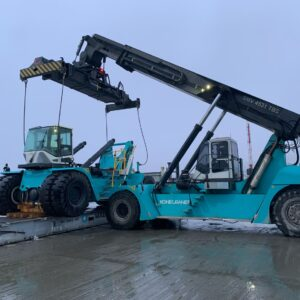 """Logistics BusinessReach stacker arrives at """"the end of the world"""""""